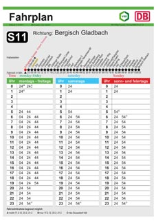 S11 Fahrplan
